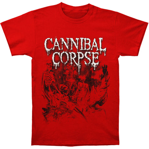 Cannibal Corpse Men's  Skeletal Domain Red T-shirt Red