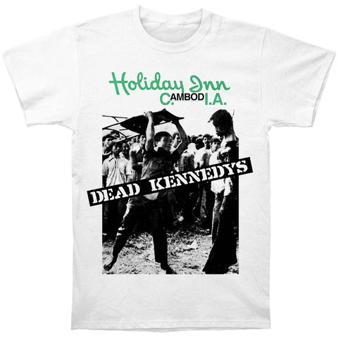 Dead Kennedys Men's  Holiday In Cambodia Slim Fit T-shirt White