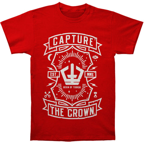 Capture The Crown Men's  Banners T-shirt Red Rockabilia