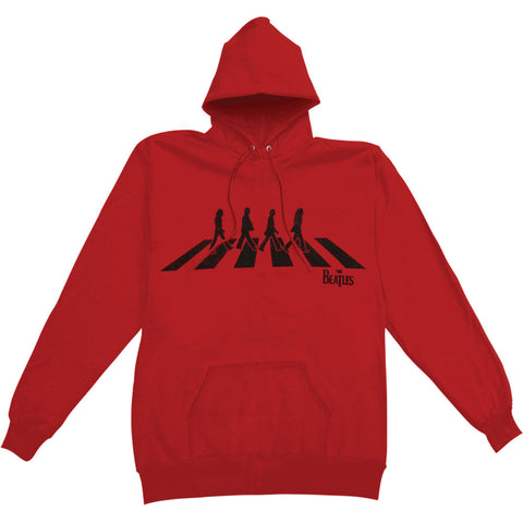 Beatles Men's  Abbey Road Hooded Sweatshirt Red