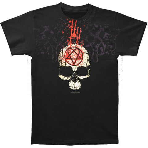HIM Men's  Dripping Skull T-shirt Black