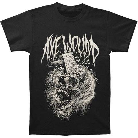 Axewound Men's  Skull T-shirt Black Rockabilia