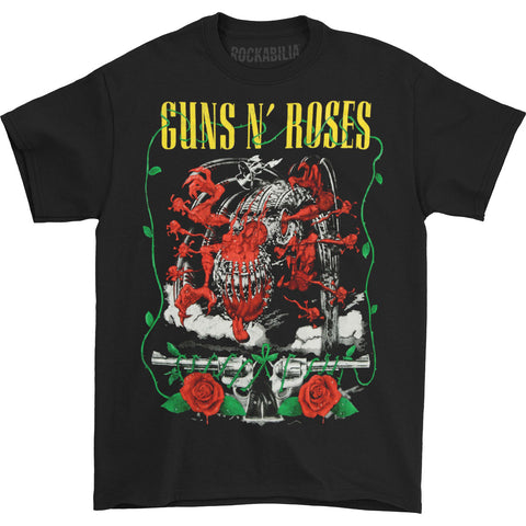 Guns N Roses Men's  Appetite Creature And Pistols T-shirt Black