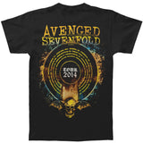 Avenged Sevenfold Men's  Stellar 2014 Tour T-shirt Black Rockabilia