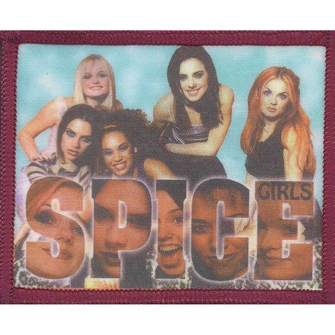 Spice Girls Men's Group Pic 2 Photo Patch Blue