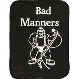 Bad Manners Men's Logo Screen Printed Patch Black
