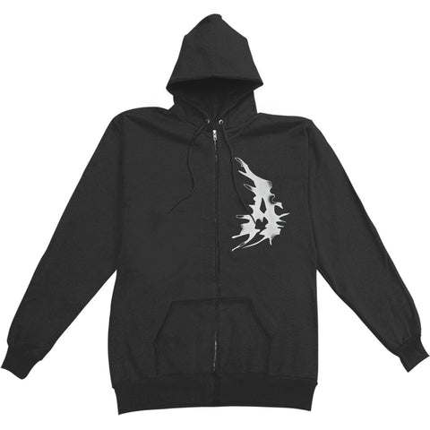 Attila Men's  A Flag Zippered Hooded Sweatshirt Black