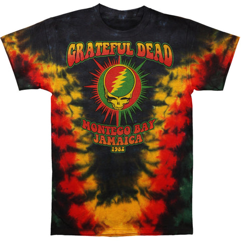 Grateful Dead Men's  Montego Bay Tie Dye T-shirt Multi