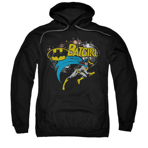 Batman Men's  Batgirl Halftone Hooded Sweatshirt Black Rockabilia