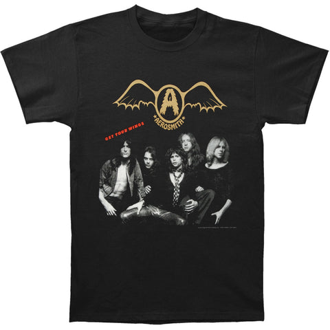 Aerosmith Men's  Get Your Wings T-shirt Black