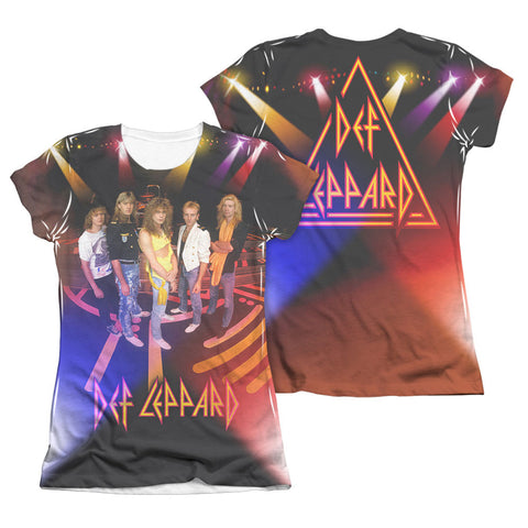 Def Leppard  On Stage  Junior Top White