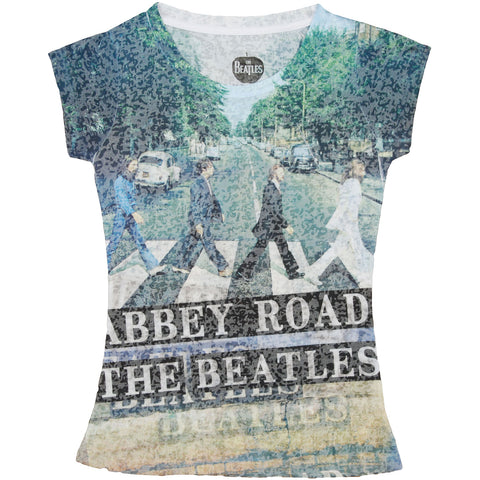 Beatles  Abbey Road Dye Sub Junior Top Multi