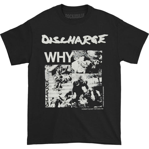 Discharge Men's  Why? T-shirt Black Rockabilia