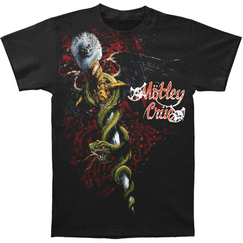 Motley Crue Men's  Dragon Tilt T-shirt Black Rockabilia