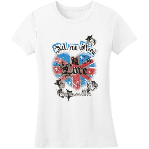 Beatles  All You Need Is Love Junior Top White