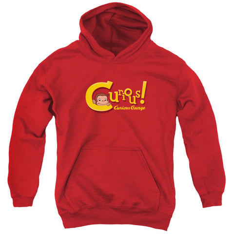 Curious George Men's  Curious Hooded Sweatshirt Red Rockabilia