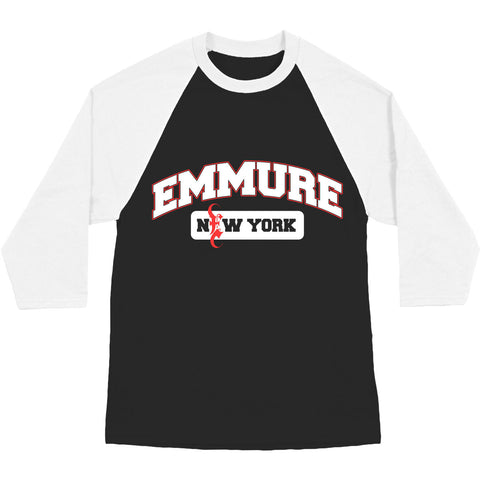 Emmure Men's  New York Baseball Jersey Black Rockabilia