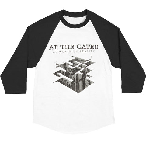 At The Gates Men's  Heroes & Tombs Tour Dates Baseball Jersey White