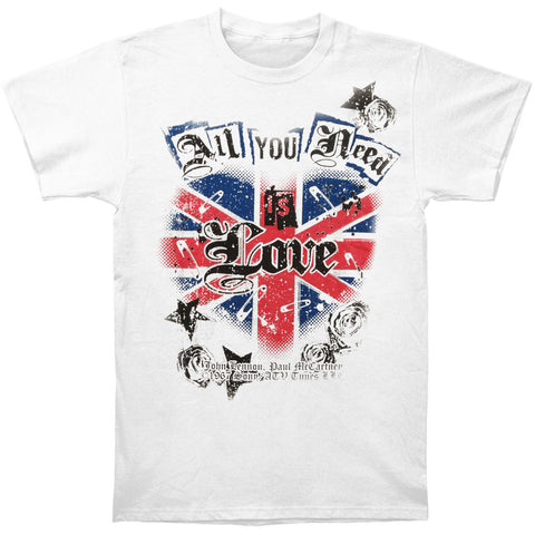 Beatles Men's  All You Need Is Love T-shirt White