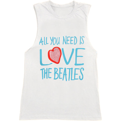 Beatles Women's  All You Need Is Love Womens Tank White