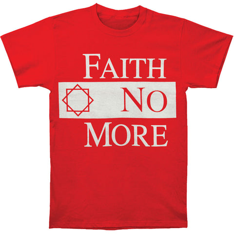 Faith No More Men's  Classic Logo Red Slim Fit T-shirt Red