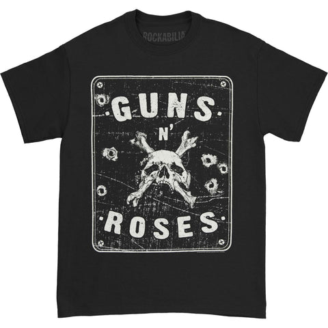 Guns N Roses Men's  Street Sign Spencer T-shirt Black