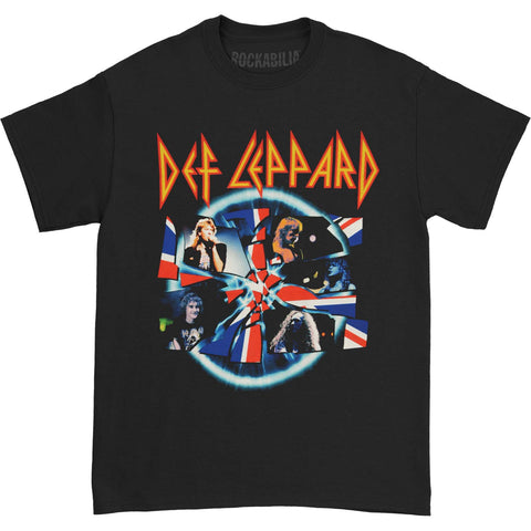 Def Leppard Men's  Shattered Group Photo Mens Reg T T-shirt Black