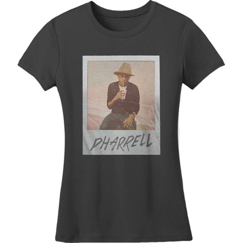 Pharrell Williams  Sitting With Drink Photo Jr T Junior Top Coal