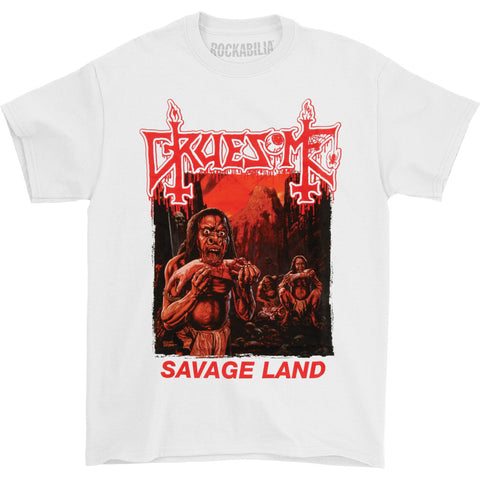 Gruesome Men's  Savage Land (White) T-shirt White