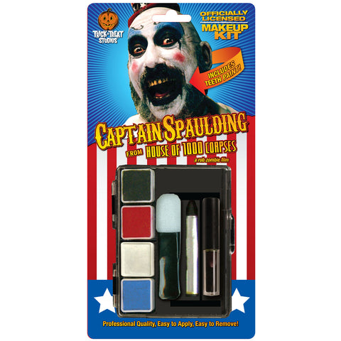 House Of 1000 Corpses Men's Captain Spaulding Makeup Kit Costume Accessory Blue