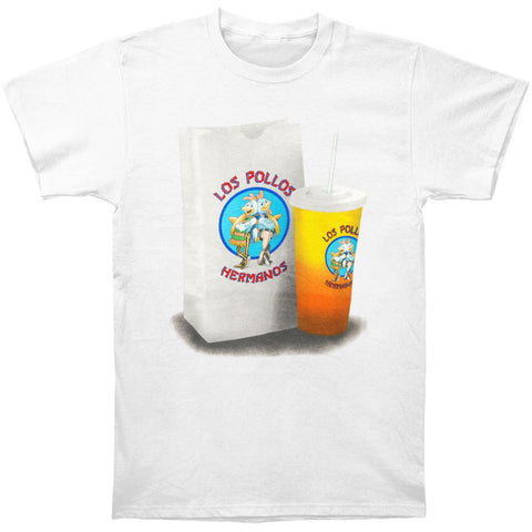 Breaking Bad Men's  Los Pollos Food Bag T-shirt White Rockabilia