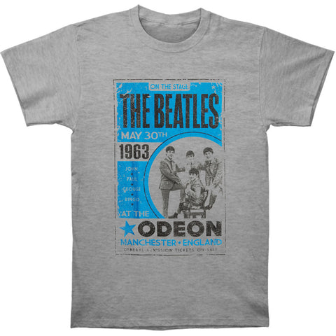 Beatles Men's  Odeon Poster T-shirt Grey Rockabilia