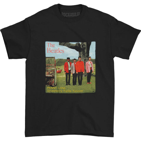 Beatles Men's  Strawberry Fields Forever T-shirt Black