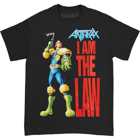 Anthrax Men's  I Am The Law T-shirt Black