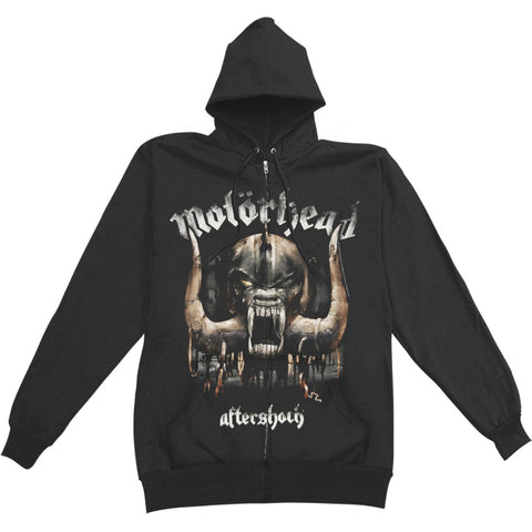 Motorhead Men's  Warpig Zippered Hooded Sweatshirt Black
