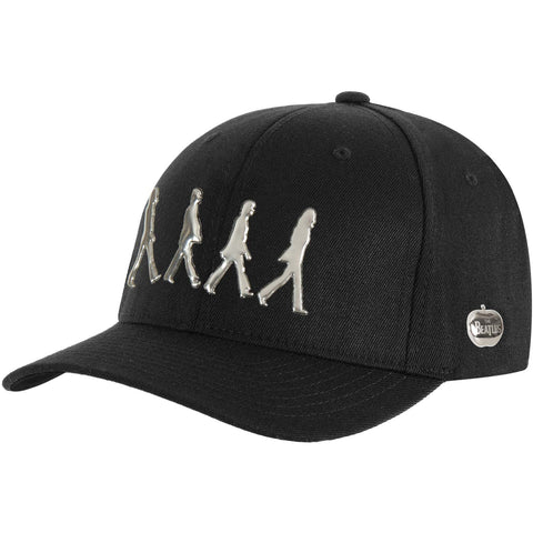 Beatles Men's  Sonic Shining Abbey Road Baseball Cap Black