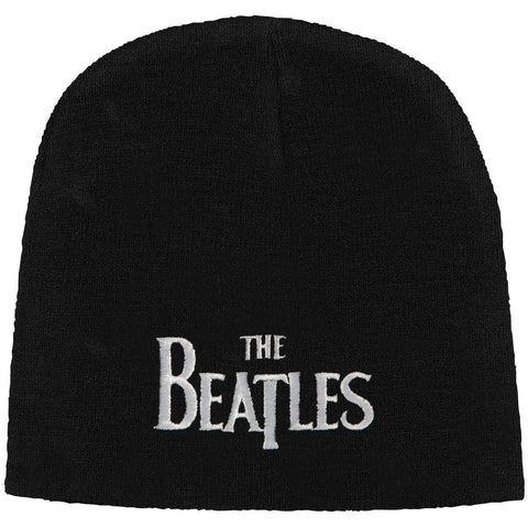 Beatles Men's Drop T Logo (Black) Beanie Black