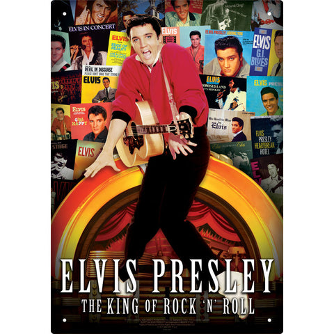Elvis Presley Tin Concert Sign