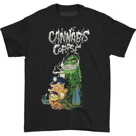 Cannabis Corpse Men's  Cop Bong Dead by Bong T-shirt Black