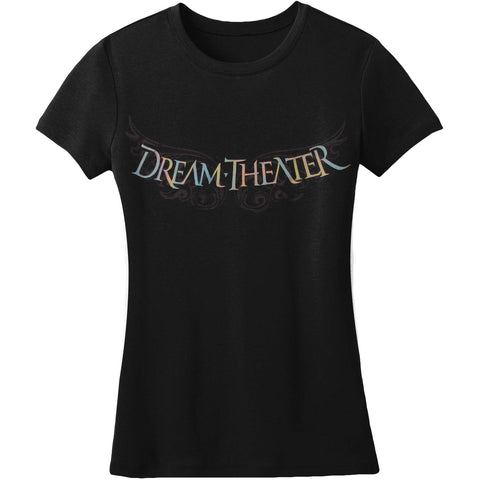 Dream Theater  Jr Hummingbird Scoop Neck T Junior Top Black