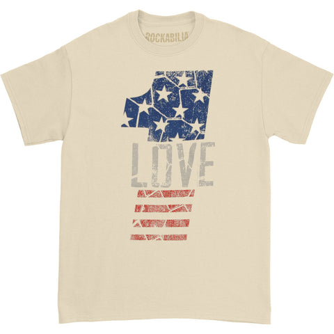 Bob Marley Men's  1 Love T-shirt Natural