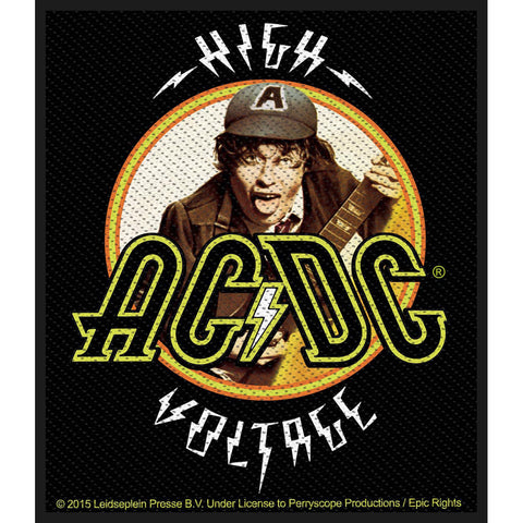 AC/DC Men's High Voltage Angus Woven Patch Black