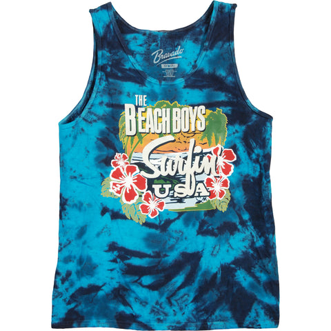 Beach Boys Men's  Surfin USA Tie Dye Mens Tank Tie Dye