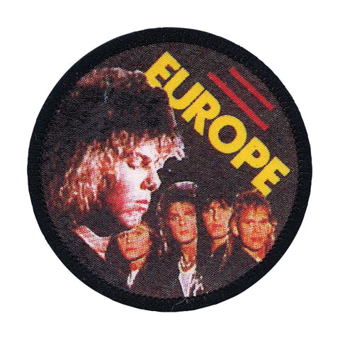 Europe Men's Group Pic 2 Screen Printed Patch Black