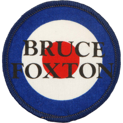 Bruce Foxton Men's Round 1 Screen Printed Patch Blue