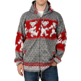 Grateful Dead Men's  Dancing Bears Jacket Charcoal