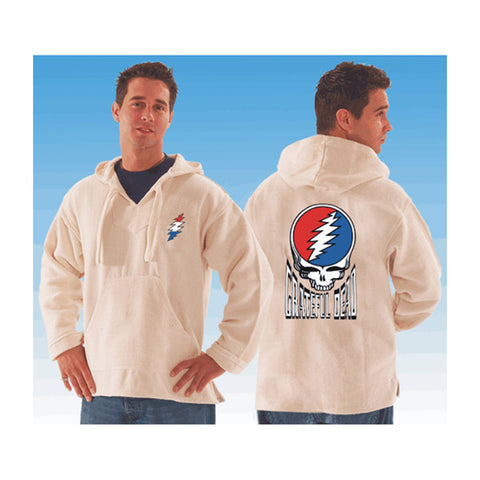 Grateful Dead Men's  Steal Your Face Hooded Sweatshirt White