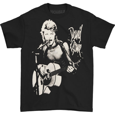David Bowie Men's  New Era Rock T-shirt Black