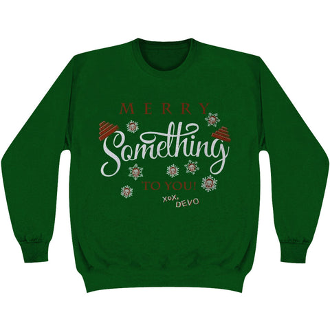 Devo Men's  Merry Something To You Ugly Xmas Sweatshirt Green