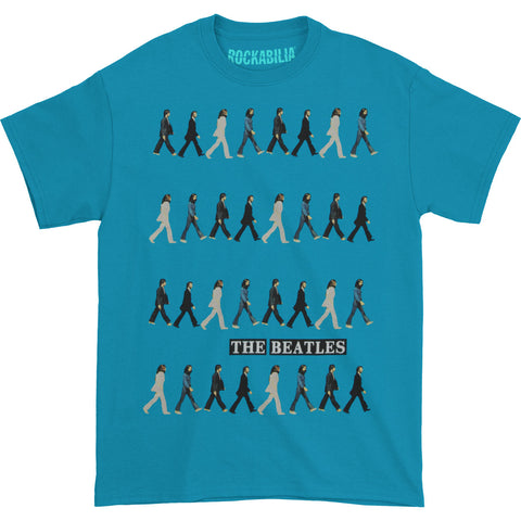 Beatles Men's  Abbey Road Repeat T-shirt Turquoise